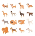 Dog icons set cartoon style vector image