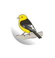 drawing bird with wooden thing artwork vector image vector image
