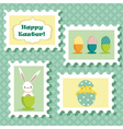 Easter stamp vector image vector image