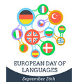 european day of languages vector image vector image