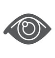 eye glyph icon anatomy and biology ophthalmology vector image