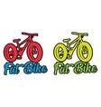 fat bike fluo design sticker vector image vector image