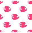 fish seamless pattern Fish background in vector image vector image