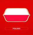 flag of poland is made in football style vector image