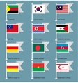 Flags set four-14 vector image vector image