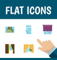 flat icon frame set of clean glazing glass and vector image vector image