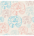 floral seamless background in retro colors vector image