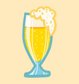 german beer glass icon hand drawn style vector image vector image