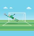 goalkeeper vector image vector image