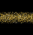 gold sparkles on black background gold glitter vector image vector image