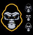 gorilla face mascot vector image vector image