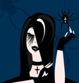 gothic girl vector image