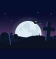 halloween spooky flat background vector image