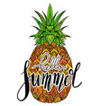 handwritten lettering hello summer juicy vector image vector image