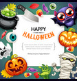 happy halloween background with copy space dark vector image