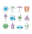 holiday and beach objects vector image vector image
