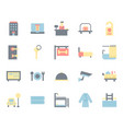 hotel service icon and symbol set in flat design vector image vector image