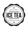 Ice Tea vintage stamp vector image vector image