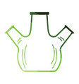 icon of chemistry round bottom flask with triple vector image vector image