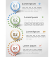 Infographics Design Template vector image vector image