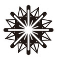 isolated snowflake icon vector image vector image