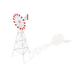 Isometric 3d of farm windmill vector image vector image