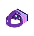 isometric virtual reality glasses vector image vector image