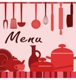 Kitchenware and cooking process vector image vector image