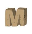 letter m stone font rock alphabet symbol stones vector image vector image