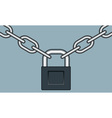 Lock and chain vector image vector image