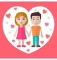 Lovers holding hands vector image