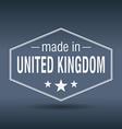 Made in United Kingdom hexagonal white vintage