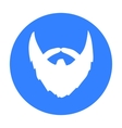 Man s beard icon in black style isolated on white vector image vector image
