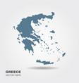 map greece vector image