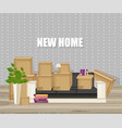 office lounge living room design flat vector image