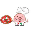 pizza chef mascot cartoon vector image vector image