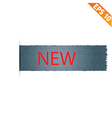 realistic denim label and sale tag vector image