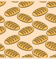 seamless pattern with fresh bread design element vector image