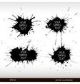 set grunge splashes grunge background vector image