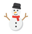 snowman flat icon new year and christmas vector image