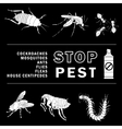 stop pest vector image vector image