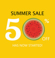 summer sale poster with watermelon vector image vector image