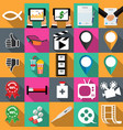 technology icons in flat vector image