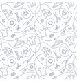 thin line seamless pattern with sewing tools vector image vector image