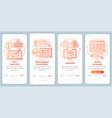 translation service red onboarding mobile app vector image vector image