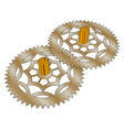 two gears on white background vector image vector image