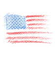 Watercolor american flag vector image vector image