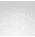 winter abstract background of the snowflake vector image vector image