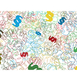 background with colorful symbols of the paragraph vector image