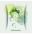 greeting card with wild flowers vector image